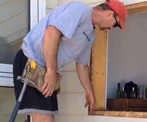 Untergrund zum Fenster einbauen vorbereiten